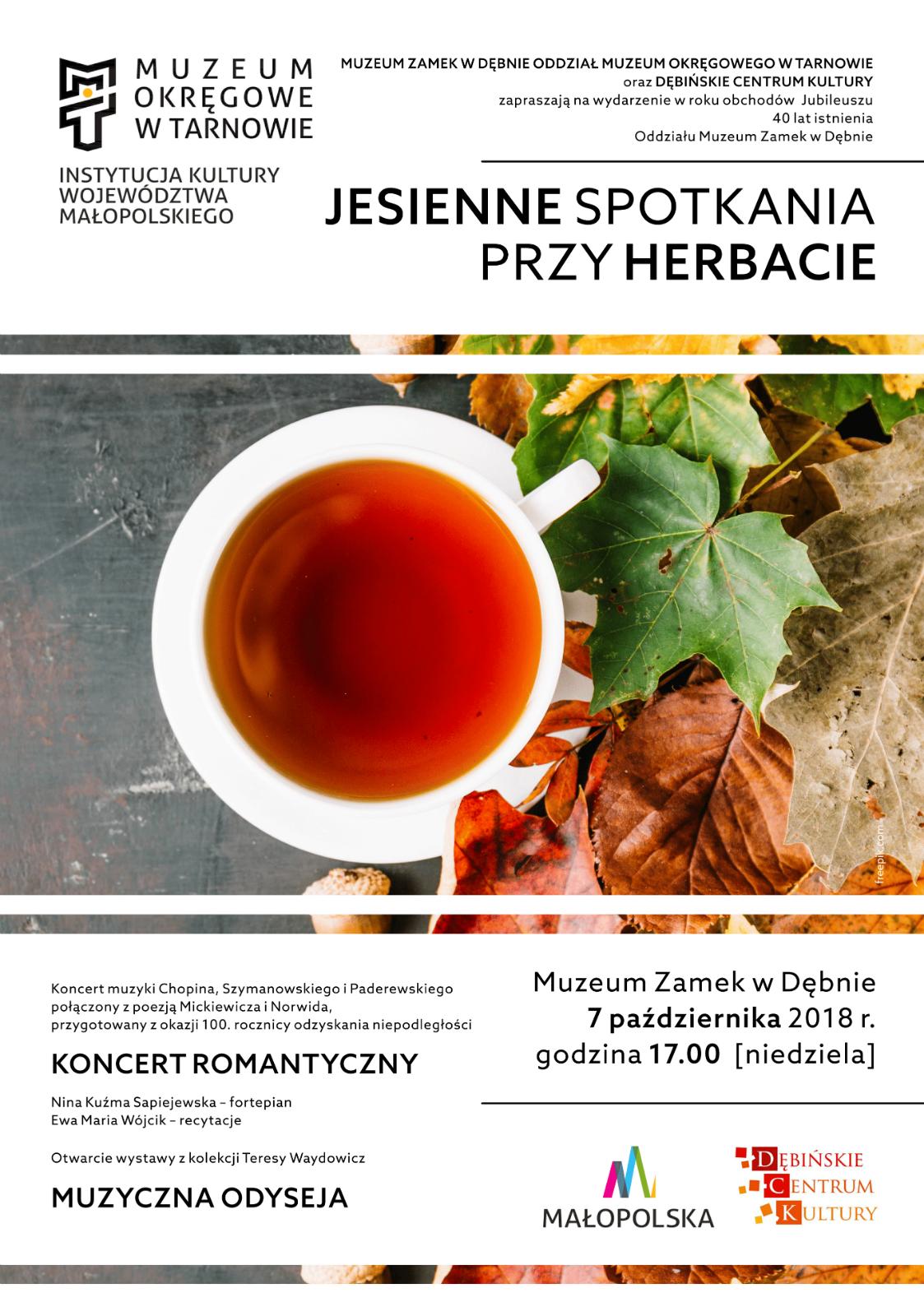 plakat_jesienne spotkania przy herbacie