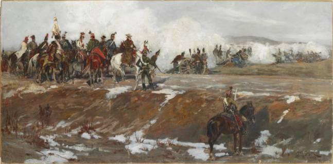 """Zakup obrazu olejnego stanowiącego szkic do """"Panoramy Siedmiogrodzkiej"""" autorstwa Jana Styki"""