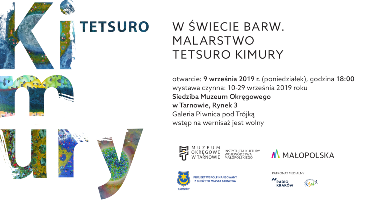 baner promujący wystawę Tetsuro Kimury wtarnowskim Muzeum