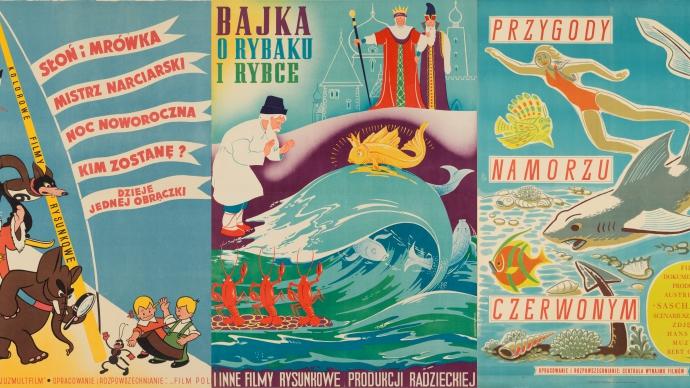 Plakaty bajkowe wzbiorach Muzeum