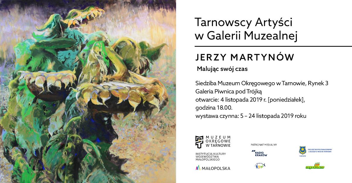 baner promujący wystawę Jerzego Martynowa