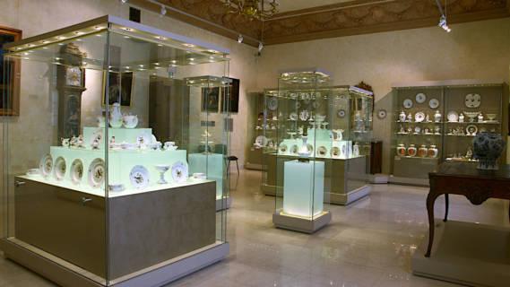 Ekspozycja porcelany iszkła nieczynna