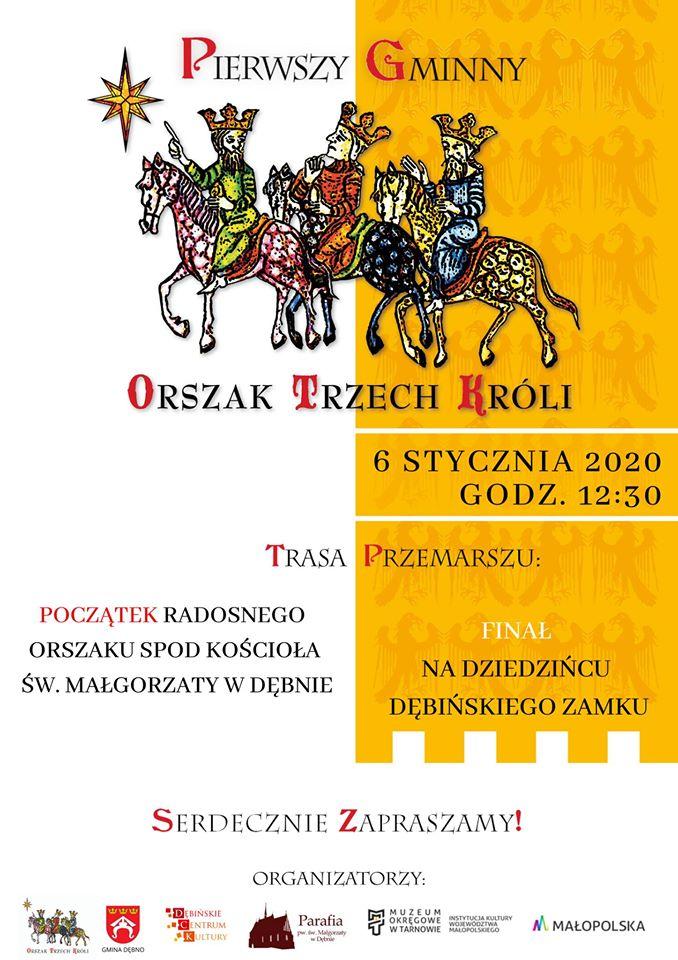 plakat promujący Pierwszy Gminny Orszak Trzech Króli